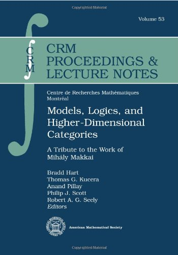 Models, Logics, and Higher-dimensional Categories: A Tribute to the Work of Mihaly Makkai (CRM Proceedings & Lecture