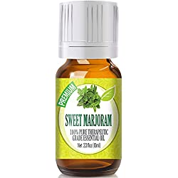 Sweet Marjoram 100% Pure, Best Therapeutic Grade Essential Oil - 10ml