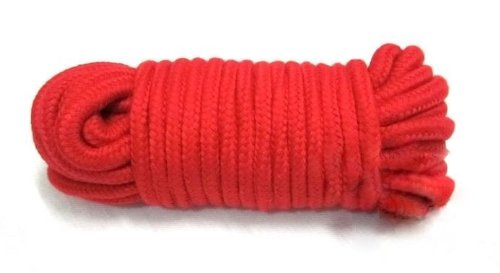 亀甲縛り 赤いロープ シルクロープ 10m