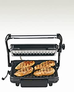 Hamilton Beach 25451 Indoor Grill with 85-Inch Cooking Surface, Stainless Steel by Hamilton Beach
