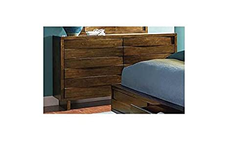 Contemporary Dresser in Acorn Finish