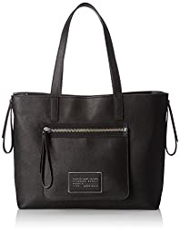 Marc by Marc Jacobs Zip It Saffiano Zipper Tote Bag, Black, One Size