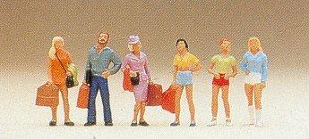 Teenager Passengers Standing (6) HO Scale Preiser Models