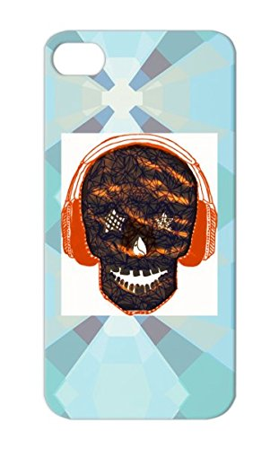 Anti-Scuff Music Love Kpop Pop Music Skull Big Bang Headphones Black For Iphone 5/5S Cover Case