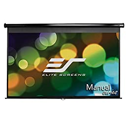 Elite Screens Manual, 94-inch 16:10, Pull Down Projection Manual Projector Screen with Auto Lock, M94UWX