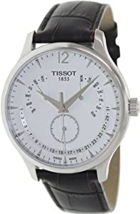 Tissot Tradition Silver Dial Stainless Steel Case Mens Watch T0636371603700