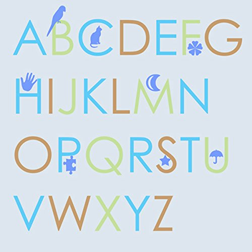 Green Leaf Art Boys' Alphabet Canvas Art