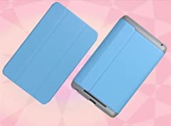 2010kharido Magnetic Smart PU Leather Stand Case Cover for 2012 ASUS Google Nexus 7 1st Gen Light Blue