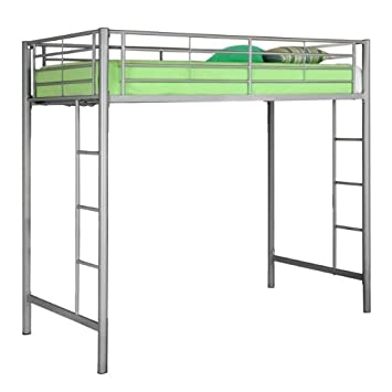 Metal Twin Loft Bunk Bed