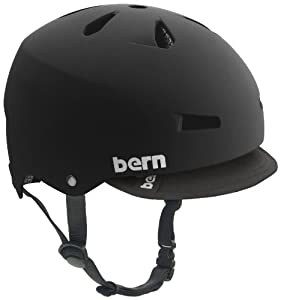 Bern Macon Summer Matte EPS Helmet with Visor (Black, Medium)