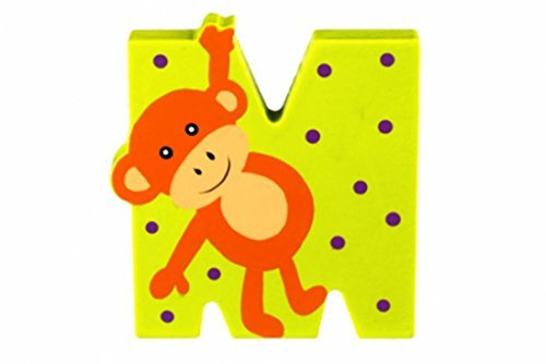 [Wooden Freestanding Alphabet Letter Different Animal For Each Letter (M is for Monkey) by Orange Tree] (Animals That Start With The Letter M)