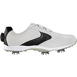 FootJoy FTJ96104-8.5 Medium emBODY Womens Golf Shoes, White & Black - 8.5 Medium