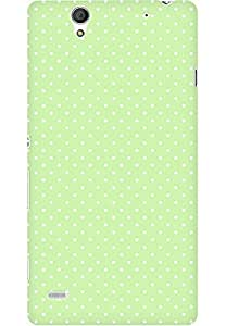 AMEZ designer printed 3d premium high quality back case cover for Sony Xperia C4 (light green polka dots)