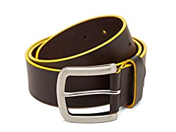 Breakbounce Men's Leather Belt (8907066079969_Medium_Brown)