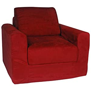 Fun Furnishings Chair Sleeper Blue Micro Suede from Fun Furnishings