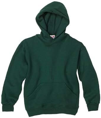 MJ Soffe Big Boys' Basic Hooded Sweatshirt, Dark Green, Small