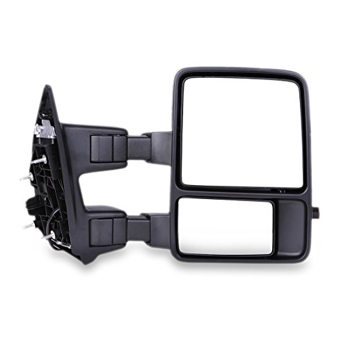 TOPPOWER Ford Tow Mirrors 2008-2015 FORD F250/F350/F450 SUPER DUTY Pair Manual Telescopic Function With Signal Lights Fits Pickup Truck black cover (Power,Heated & Signal Light) (2014 F250 Tow Mirrors compare prices)