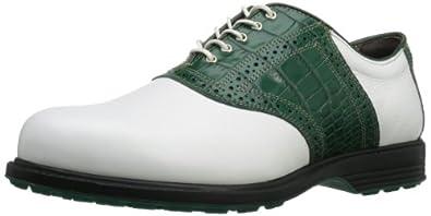 Allen Edmonds Men's Muirfield Village Golf Shoe,White/Green,7.5 D US