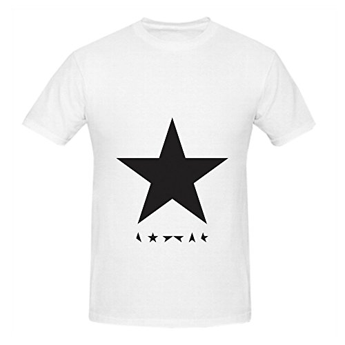 David Bowie Blackstar Mens Crew Neck Casual Tee White