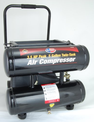 All-Power 5 gal. Oil-Less Twin-Tank Air Compressor
