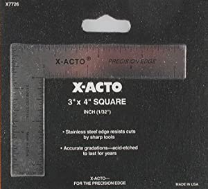 "X-Acto 3"" x 4"" Square,Inches Only XAC7726 at Sears.com"