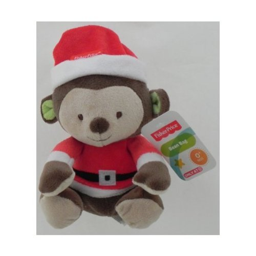 Fisher Price Bean Bag Monkey In Santa Outfit - 1