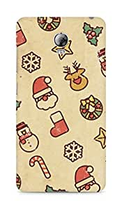 Amez designer printed 3d premium high quality back case cover for Lenovo Vibe P1 (Vintage Christmas)