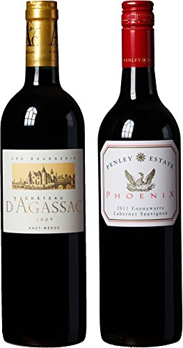 "Red Bordeaux & Coonawarra Cabernet Sauvignon Themed Wine Pairing - ""Hand Selected By America'S 1St Master Sommelier"" - A Comparative Way To Explore Food & Wine! Mixed Pack, 2 X 750 Ml"