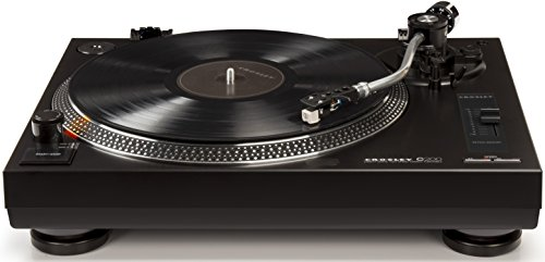 Crosley C200A-BK Direct Drive Turntable with S-Shaped Tone Arm, Black (Direct Drive Turntable compare prices)