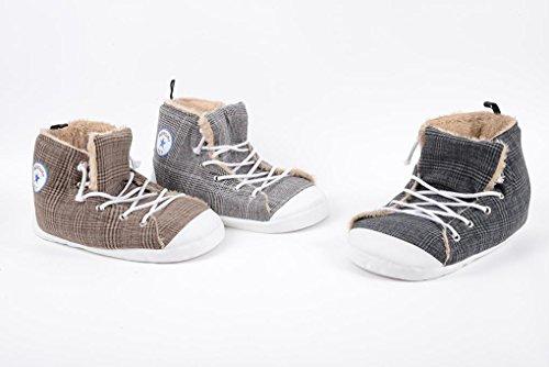 Cuccia per GATTI e CANI di piccola taglia Scarpa morbida All Star Sneakers (Grigio chiaro)