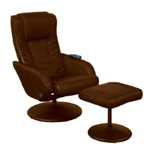 leather massage swivel recliner chair with footstool massage chairs