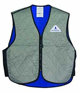 Techniche Cooling Sport Vest - V-Neck - Silver - MEDIUM