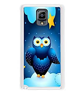 Blue Owl 2D Hard Polycarbonate Designer Back Case Cover for Samsung Galaxy Note 3 :: Samsung Galaxy Note III :: Samsung Galaxy Note 3 N9002 :: Samsung Galaxy Note N9000 N9005
