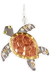 Pilgrim Imports Sydney Sea Turtle Metal Fair Trade Ornament