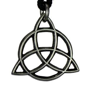 Celtic Faery's Shield Pendant Goddess Trinity Knot Jewelry Irish Fairy Necklace
