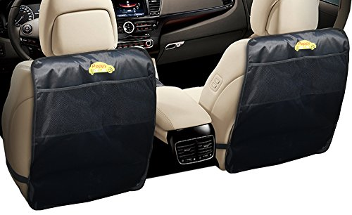 Car Kick Mats Back Seat Protector for Kids 2 Pk, Auto Seat Cover Protectors for the Back of Your Front Seat to Organize and Your Seats Clean from Mud & Stains (Car Floor Mat Back Seat compare prices)