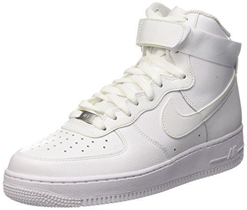 Nike Herren Air Force 1 High \'07 Turnschuhe, Elfenbein - Blanc Cassé - Blanco (White / White), 42