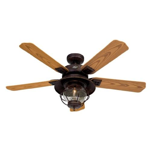 Hunter Hr 20721 52 Ceiling Fan Rustic Brown With Light
