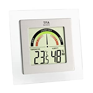 TFA Dostmann 30.5023 - Termómetro / hidrógrafo digital con indicador de zona de confort - Bebe Hogar