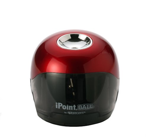 Westcott Ipoint Ball Pencil Sharpener, 6.5 X 3 X 6 Inches Red/Black (15570)