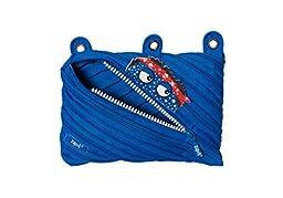 ZIPIT Talking Monstar 3-Ring Pencil Case, Blue