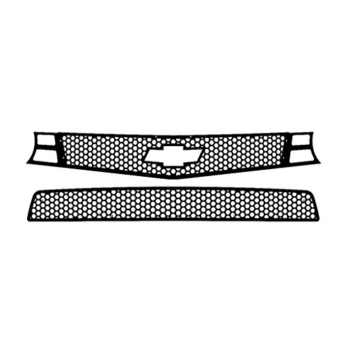 Black Powdercoat Circle Punch Grille Grill Insert Trim fits: 2010-2013 Chevy Camaro SS - Ferreus Industries - TRK-158-03-Black (2010 Camaro Ss Bumper compare prices)