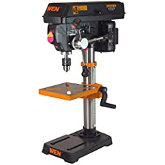 WEN's 10 inch swing drill press with laser centering device is a powerhouse for your shop. Packed with features that you'll find in larger more industrial type drill presses. Power through metal, wood and other materials with ease. Change from five s...