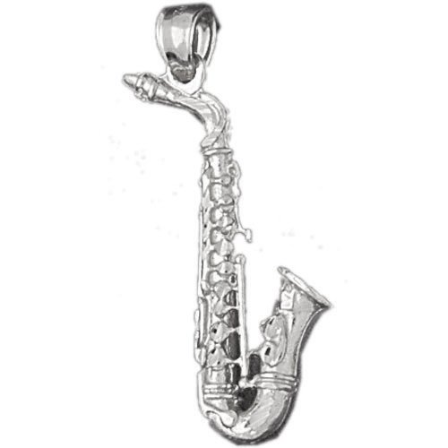 Clevereve's 14K White Gold Charm 3-D Musical Instruments 4.5 - Gram(s)
