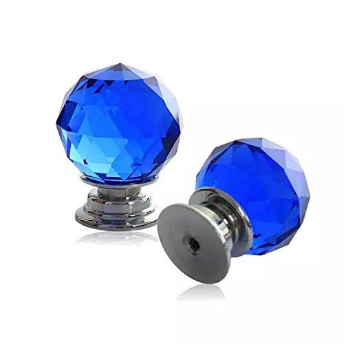 DECOOL (TM) Blau 2 PCS 40MM Kristall TürKnopf Küche Türgriff Kabinett Schubladen schrank Möbel-Handgriff Möbelknopf DIY Pull Kitchen Decoration bestellen