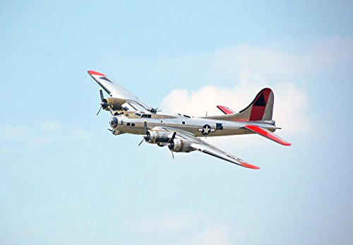 Transportation - B-17 Flying Fortress Peel and Stick Fabric Wall Sticker by Wallmonkeys Wall Decals