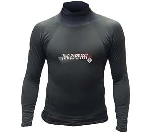 Kids UV50 THERMAL Rash Vest Long Sleeve (Black, 2XS)