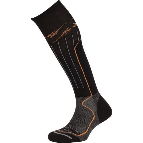 Lorpen Snowboard Merino Wool Socks,Black,Large