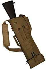 MAKO GMG Global Military Gear Coyote Tan Shoulder Scabbard Soft Protective Carry Case Adjustable Ambidextrous Molle Universal Shotgun Rifle