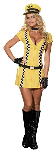 Dreamgirl Womens Tina The Taxi Driver Outfit Fancy Dress Sexy Costume